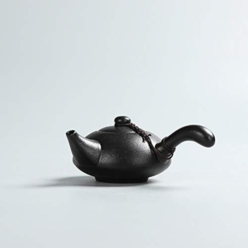 FTW Théières Créatives en Poterie Noire Faites À La Main Vintage Théière en Céramique Chinois Kung Fu Ensemble De Thé Bouilloire Contentement Verres (Color : Style B)