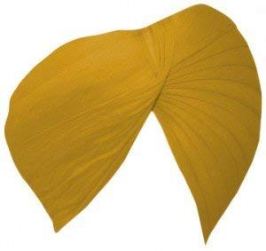 Sikh Cotton Turban for Men - warm Brown Color - Double Stitched Punjabi Pagri - 6 Metre