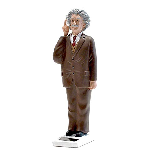 LIUSHI Einstein Statue, Albert Einstein Bobblehead Action Figure Doll Toy Solar Head Used for Car Dashboard Home Desk Decoration