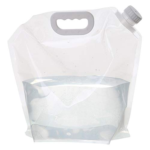 adad Campinggeschirr-Wasserkanister Klappbarer Wasserspeicherbeutel | Tragbarer Wasserspeichertank | 3L5L | Innen | Picknick Camping Radfahren (Color : Clear, Size : 3L)