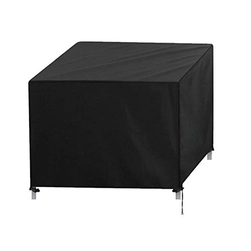 Cube Garden Furniture Covers with Garden Gloves, Waterproof, Windproof, Anti-UV, Heavy Duty Rip Proof 420D Oxford Fabric Patio Rattan Cube Set Cover, Schwarz (Size : 280×280×80cm)