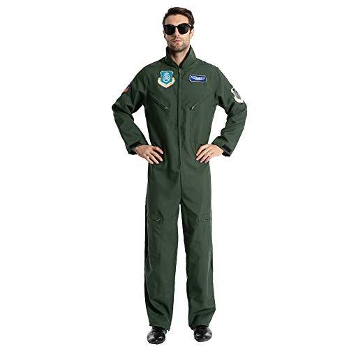 EraSpooky Halloween Herren Flug Anzug Pilot Flieger Kostüm
