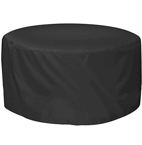 BAOFI 90x74cm Cubierta de Muebles de Exterior, Funda Muebles Patio Impermeable, Lluvia Impermeable Mesa Cubierta del Patio y Silla Oxford Tela Resistente al Desgaste,Black