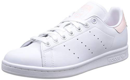 adidas Damen Stan Smith W Gymnastikschuhe, Weiß (FTWR White/Ice Pink F17/Ftwr White FTWR White/Ice Pink F17/Ftwr White), 38 2/3 EU