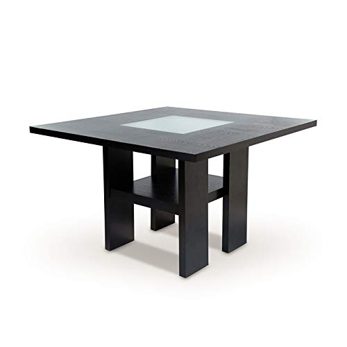 Furniture of America Jalen Counter Height LED Solid Wood Dining Table in Gray