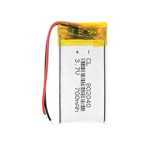 Batteria di ricambio RC 802040 Batteria ai polimeri di litio 700 mAh 3. 7 V Batteria ricaricabile agli ioni di litio per GPS Series Altoparlante Bluetooth Fotocamera Power Bank ( Color : 1pc )