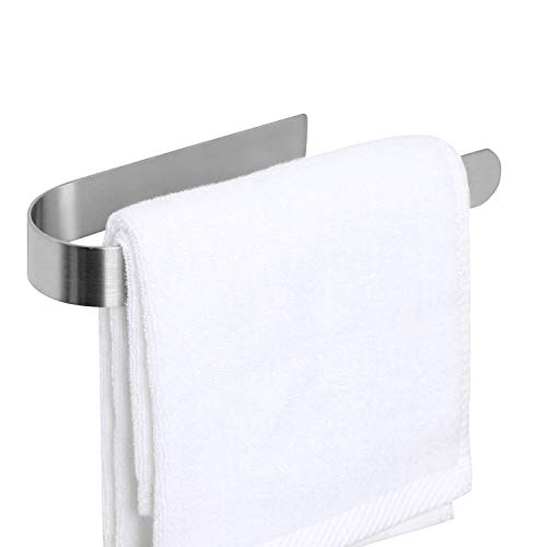 HouseAid Selbstklebender Handtuchhalter für Badezimmer Edelstahl Selbstklebend Handtuchring Ohne Bohren Handtuchhalter Stick an Wand Gebürstetes Nickel