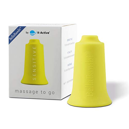 BellaBambi® Schröpfcup by K-Active SENSITIVE original für die Unterdruckmassage | gelb | Ø 3,5 cm
