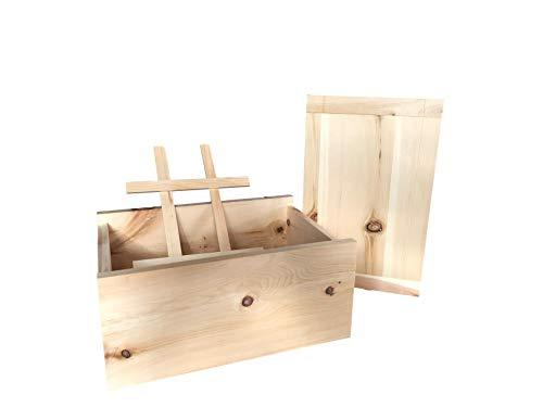 PrimeKitchen Brotkasten/Brotbox aus Zirbenholz für länger haltbare Backwaren - Handarbeit ca. 35 x 25 x 16 cm