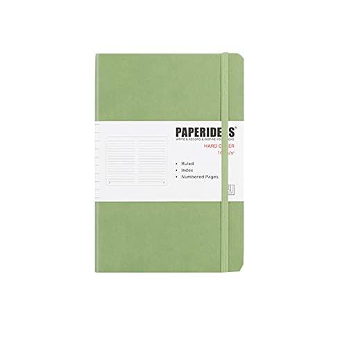 FACHAI Bloc de notas A5, planificador semanal, bloc de notas, planificador diario, cubierta de papel duro, lista de notas, 21,3 x 14,8 cm, color verde claro