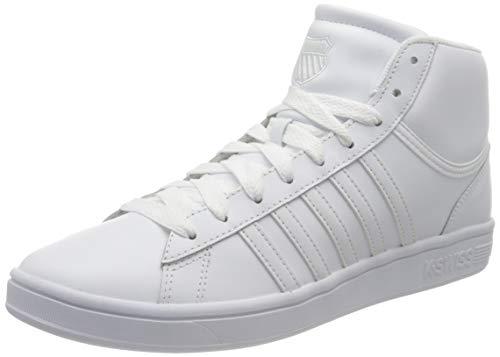 K-Swiss Herren Court Winston MID Sneaker, White White, 46 EU