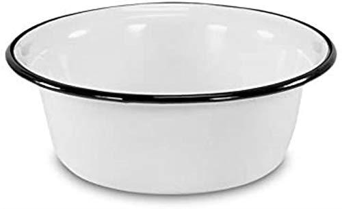 Vdn Household Enamel Bowl, White, 16 cm,28 cm