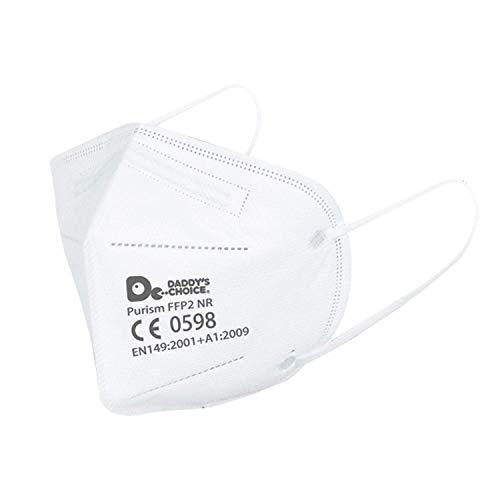 BonAura 40 Stück FFP2 Maske - Hygienisch verpackte Atemschutzmasken - CE Zertifiziert EU CE 0598 - Partikelfiltermaske