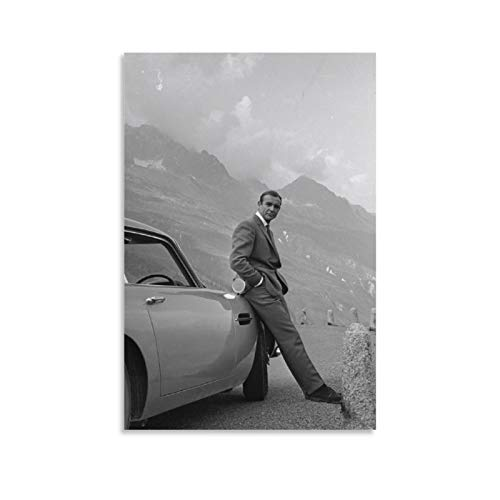 NQSB Film Stars Sean Connery 007 James Bond 2 Poster decorativo su tela da parete per soggiorno, camera da letto, 60 x 90 cm