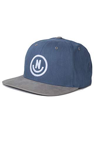 Neff Herren Daily Smile Adjustable Snapback Hat Baseball Cap, Denim/Grau, Einheitsgröße