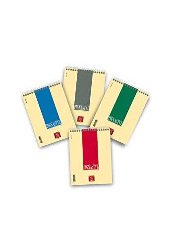 Pigna Styl Blocco Spiralato, 0215627BI, Confezione da 10 Pezzi, Bianco, A5, A5, 15X21 cm, PIGNASTYL