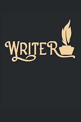 Writer: Autore che scrive poeta scrittore taccuino regali a righe (formato A5, 15,24 x 22,86 cm, 120 pagine)
