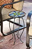 Evergreen Flag & Garden Tiffany-Inspired Dragonfly Side Table Indoor Outdoor Side Tables for Your Patio, Lawn, Garden or Home Décor