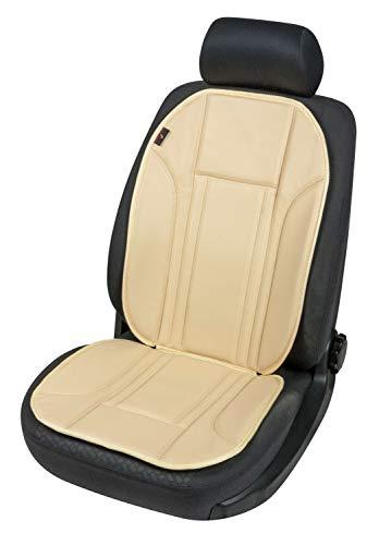 Walser 11277 Sitzaufleger aus Kunstleder | Universal Sitzauflage | Autositzaufleger in Beige | Autositzauflage Ravenna