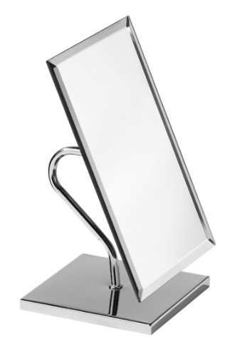 Premier Housewares Rechteckiger Tischspiegel, Chrom, Glas, Silber, 17x22x32
