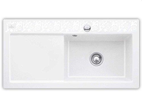 Villeroy & Boch Subway 60 XL White Pearl Keramik-Spüle Dekor Weiß Küchenspüle