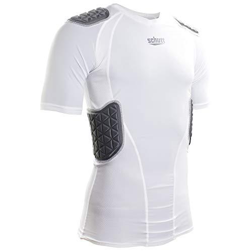 Schutt Sports ProTech Padded Football Shirt, White, Varsity