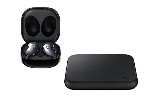 Samsung Galaxy Buds Live - Auriculares inalámbricos Bluetooth con cancelación de Ruido (ANC), batería Duradera, Sonido by AKG, Ajuste cómodo, Color Negro + Cargador inalámbrico P1300