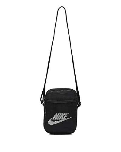 Nike Small Items Tech Bag - Bolsa de deporte (talla única), color negro y blanco