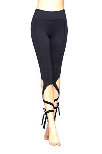 Lanceyy Pantalón De Mujer Control Estilo Legging Sin Simple Jeggings Recortado Cintura Alta Pantalones con Bolsillo Interior Pantalones Pantalones Casuales