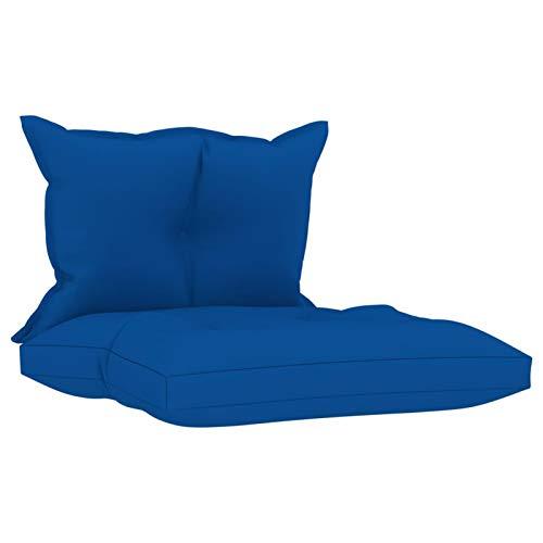 Tidyard Cojines para sillas de Exterior Cojines para sofás de palets 2 Unidades Tela Azul Klein