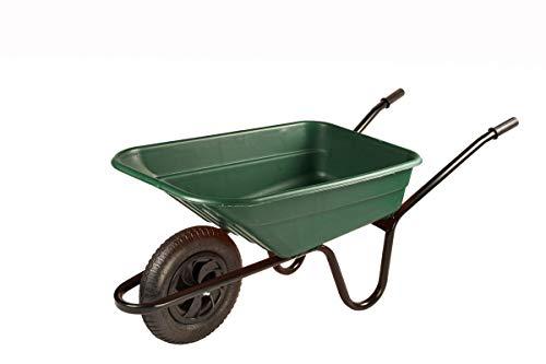 Walsall Wheelbarrows 90Ltr Shire Plastic Green Wheelbarrow Barrow in a Box,...