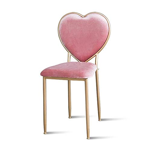 Taburete del dormitorio, sillón colorido de la silla del comedor de la sala de estar de la silla del clavo de la tienda de belleza, 42 * 42 * 85CM (Color : B)