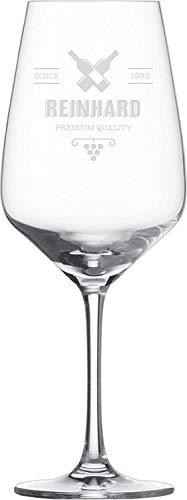 MaTaDa® Rotweinglas mit Gravur, personalisiertes Weinglas, graviertes Glas - Füllmenge: 497ml