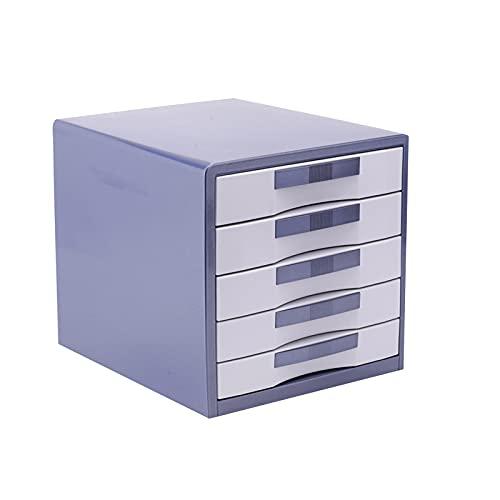 BXYXJ Archivador De Escritorio De Metal, Unidad De Almacenamiento De Cajones De 5 Capas, Caja De Cajones De Almacenamiento De Oficina A4, Completamente Ensamblado (Color : A)