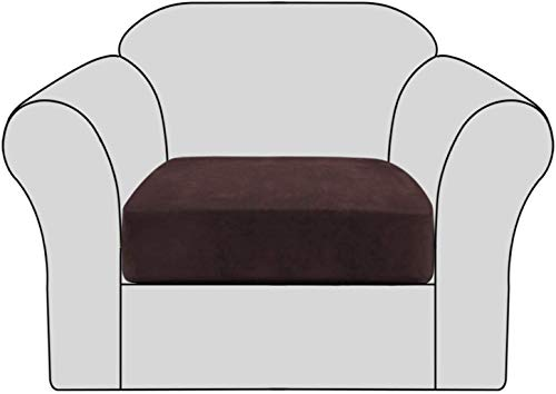 JSMY Housse de Coussin de canapé en Velours Extensible antidérapant-Housses de siège de canapé Amovibles avec Fond élastique,protège-Housses de Meubles élastiques lavables pour Enfants et Animaux