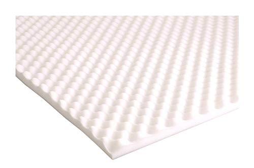 Mousse alvéolée pour la prise en charge de la douleur sur matelas/tampon de protection , polyuréthane, blanc, Double