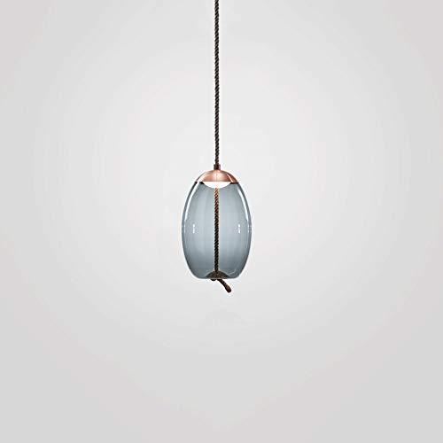 Bvvv DIRIGIÓ Luces colgantes de cristal elípticos circulares Cuerda de cáñamo Luminarias Comedor DESVÁN Lámpara de araña iluminación de gota moda personalidad creativa luces colgantes (Tamaño : A)