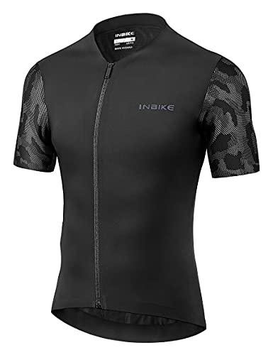 INBIKE Maglia da Ciclismo Estivi Attillata Professionale Stretto al Corpo Elevata Elasticità Slim Fit Asciugatura Rapida Uomo