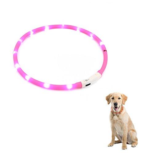 Zogin, collare per cane domestico, USB ricaricabile, collare di sicurezza, per cane, a LED lampeggiante