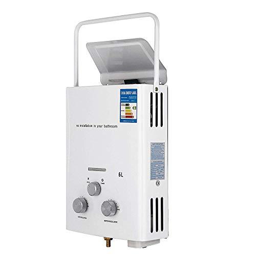 FlowerW 6L LPG Warmwasserbereiter CNG-Gasheizkörper mit Digital LCD 12KW AutomatischWarmwasserbereiter(6L LPG)