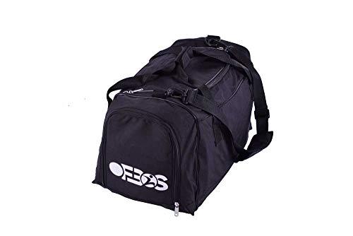 ofbos - Bolsa de Gimnasio Negra con Capacidad de 60 litros, Tela Impermeable, Ligera, Bolsa de Gimnasia para Entrenamiento
