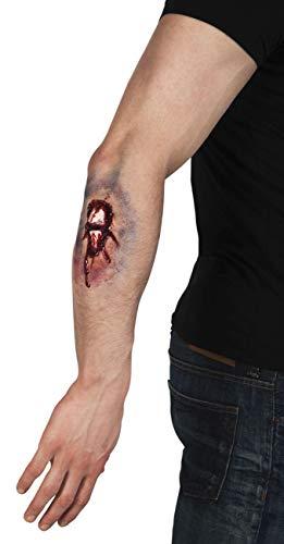 Ferita finta adesiva Frattura con ossa esposte e sangue in lattice