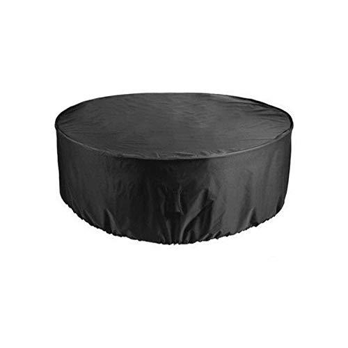 Cubierta redonda muebles a prueba polvo y resistente al agua cubierta protectora exteriores muebles jardín cubierta para la lluvia cubierta el polvo cubierta para sofá o mesa color negro