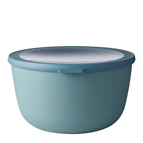 Mepal Multischüssel Cirqula rund Green – 3000 ml Inhalt – mit abnehmbarem Deckel – bruchfestes Material-auslaufsicher – tiefkühlgeeignet-spülmaschinengeeignet, PP/TPE, Nordic Grün