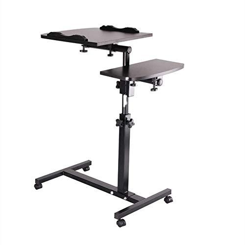 XMY Schreibtisch mit Maus Brett Faulen Tisch, Ständer Lap Schlafsofa Notebook Schreibtisch Solide und Superior-Stabilität Einstellbare Höhe 62-90cm2.03-2.95ft (Schwarz)