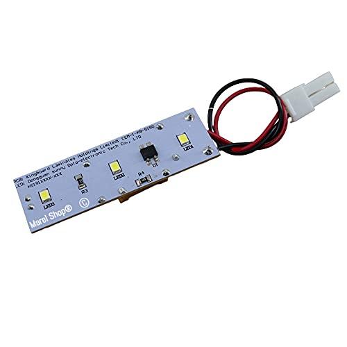 Marel Shop® - Scheda elettronica led luce lampada per frigorifero compatibile con Candy Hoover Zerowatt per modelli: BRCIF3050E - C142FD - CCBS2165WH - CCBS5152X - CCDS5142X - CCDS5162W