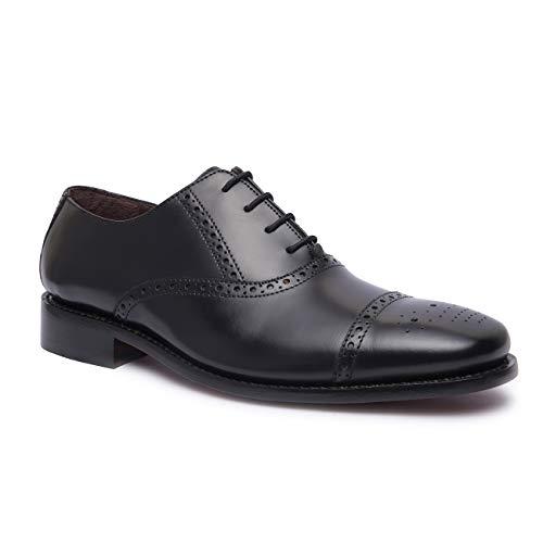 ALONSI   남성용  가죽 옥스포드 드레스 신발   GOODYEAR WELTED 신발   남자를위한 모자 발가락 공식 신발   남자를위한 웨딩 신발   가죽 솔 망 신발   손으로 만든 럭셔리 가죽 신발