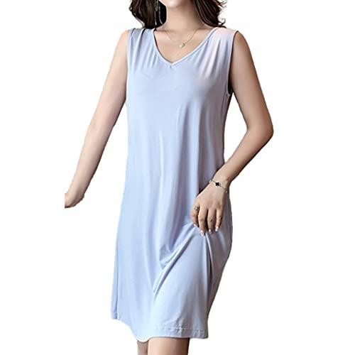 Camisón de algodón puro modal pijamas de las mujeres del chaleco del tirante del algodón puro delgado de la espalda del desgaste del hogar