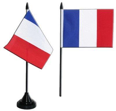 Flaggenfritze Tischflagge/Tischfahne Frankreich + gratis Aufkleber