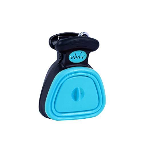 Fivekim Pet Dog Viaje Plegable Caca Pala Limpie Recoger Excrementos Limpiador Mini WC Plegable, plástico, azul, 11.5 x 14 cm,4.53 x 5.51 in